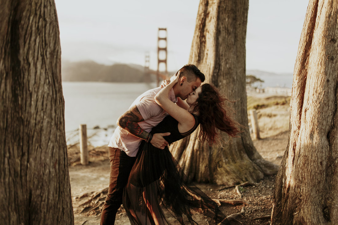 Golden Gate Bridge San Francisco Engagement Bay Area Wedding Photography
