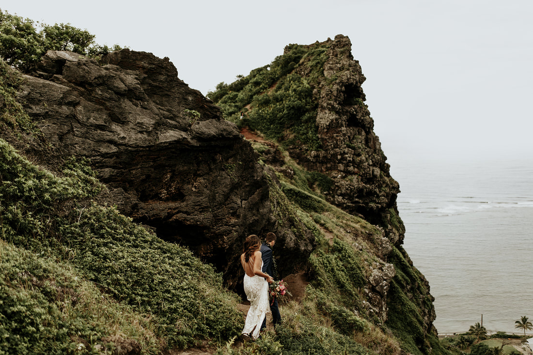 Oahu Hawaii Boho Adventure Wedding Elopement Photographer