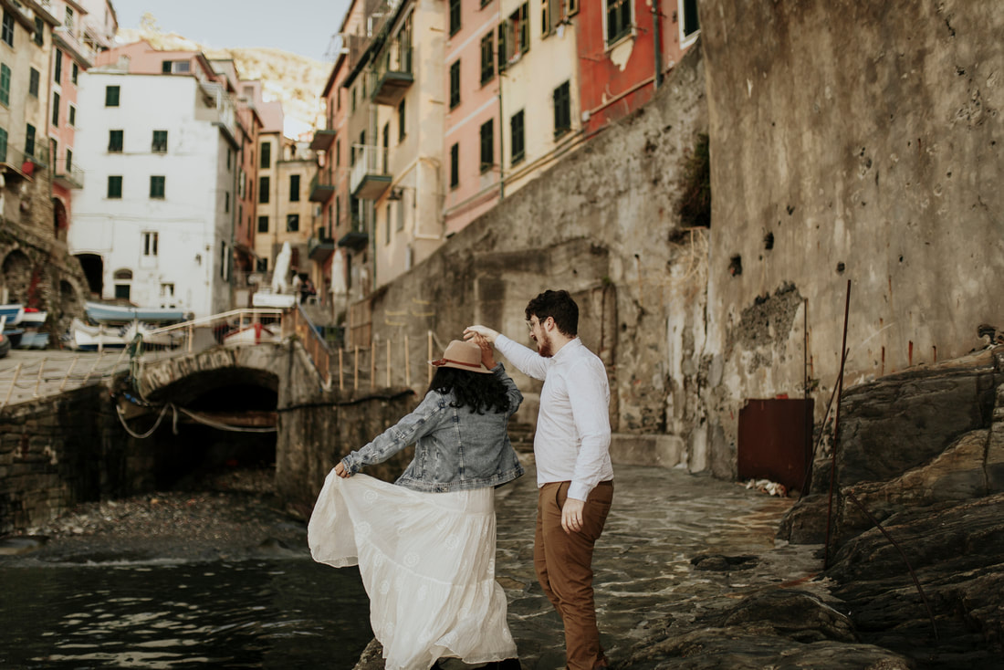 Engagement Elopement Photography in Riomaggore, Cinque Terre, Italy
