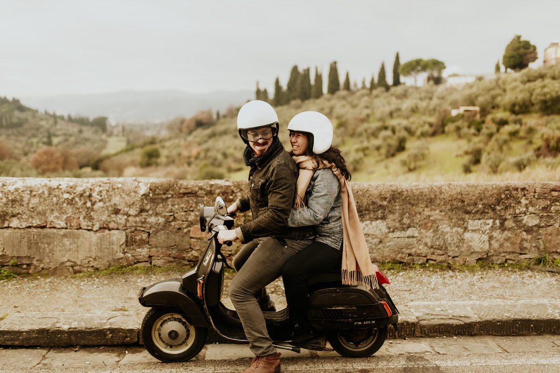 Vespa Engagement Photography in Florence, Italy