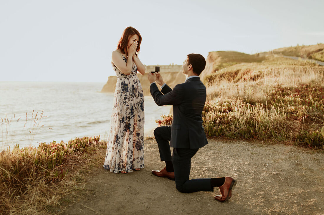 Ritz Carlton Half Moon Bay Proposal Engagement