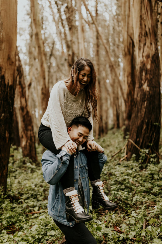 Woodsy Forest San Francisco Engagement Photography