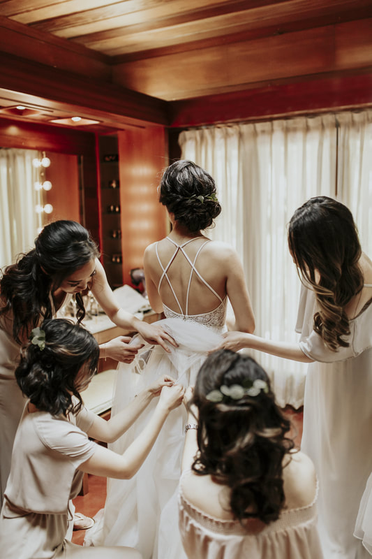Bride Bridal Party San Francisco Bay Area California Wedding Photographer