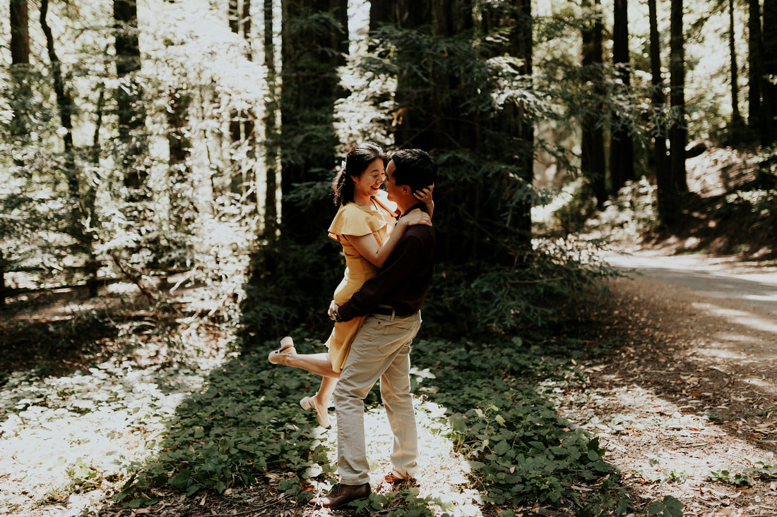 Redwoods Forest Engagement | San Francisco Bay Area California Wedding Photographer