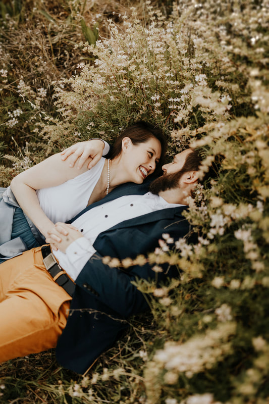 San Francisco Bay Area Wildflower Engagement Photography