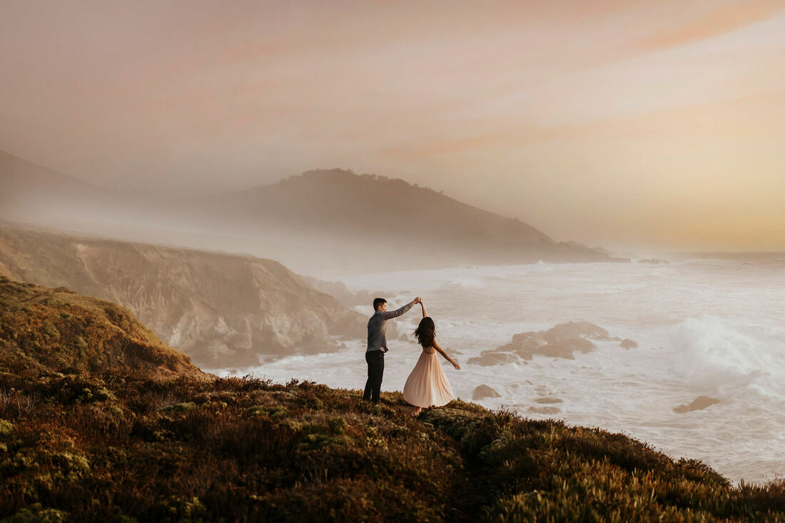 Big Sur California Proposal Engagement Photography