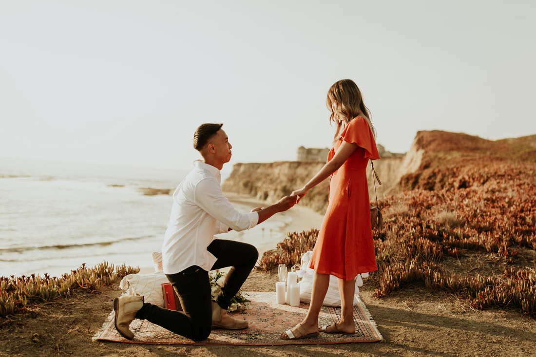 Ritz Carlton Half Moon Bay Proposal Photographer